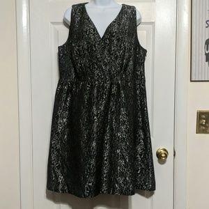 Lane Bryant Silver and Black Dress Size 18